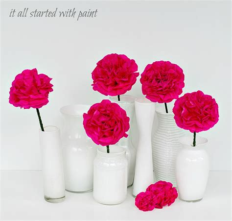 Tissue Paper Flowers In Vase by Ceramic Look Vases It All Started With Paint