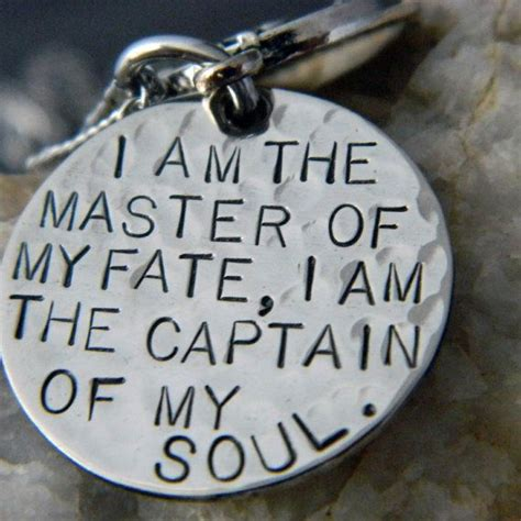 master of my fate captain of my soul tattoo quot i am the master of my fate i am the captain of my soul quot