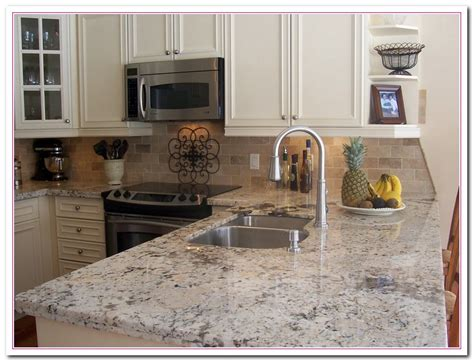 Backsplash For A White Kitchen by Working On White Granite Countertop For Luxury Kitchen
