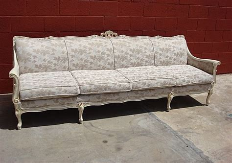 beautiful vintage painted french provincial sofa couch