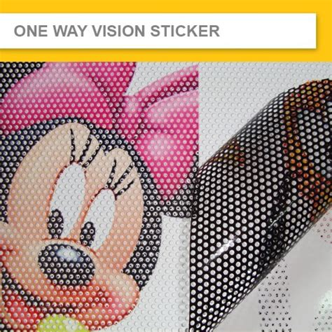 Artwork Proof Template by One Way Vision Sticker A See Through Sticker Can Protect