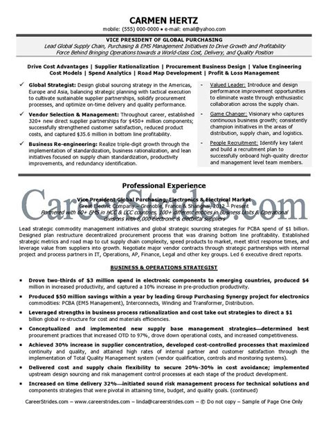 Vp Talent Management Resume by Review Resume Sles In A Wide Range Of Careers