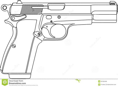 9mm Drawing by Gun Pistol Vector Clipart Clipart Suggest
