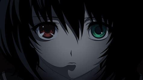 wallpaper anime eyes another bicolored eyes close misaki mei short hair vector