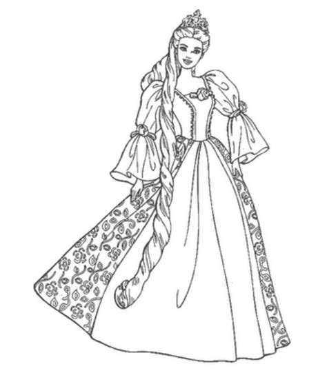 coloring pages barbie princess 8 printable barbie princess coloring pages gt gt disney