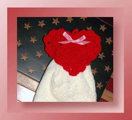 heart pattern towel textured heart towel topper crochet valentine heart
