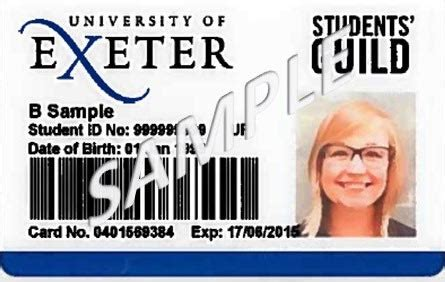 student id card template uk unicard sid of exeter