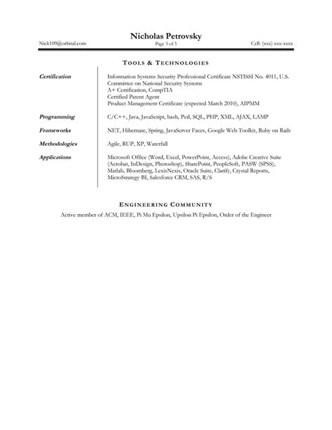 technical resume package brightside resumes