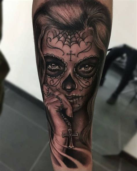 day of the dead tattoo sleeve 25 best ideas about day of dead on