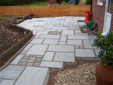 Railway Sleepers Dorset by Indian Sandstone Paving In Wimborne Dorset Msc Landscapes