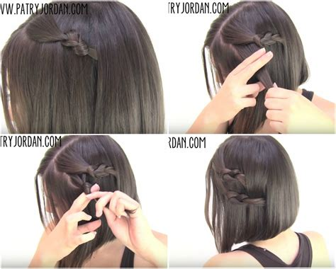 easy updos for short hair step by step video hair tutorial 4 chic sassy easy hairstyles for