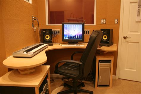 l shaped music studio desk interior amazing studio two control room for home music