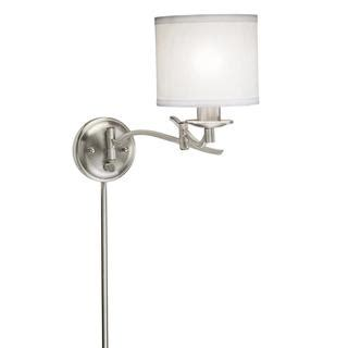 swings that plug into the wall swing arm 1 light plug in brushed nickel wall l