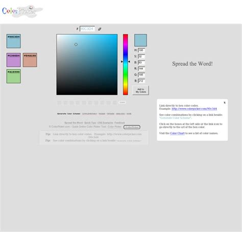 w3c color picker colorpicker color picker tool pearltrees