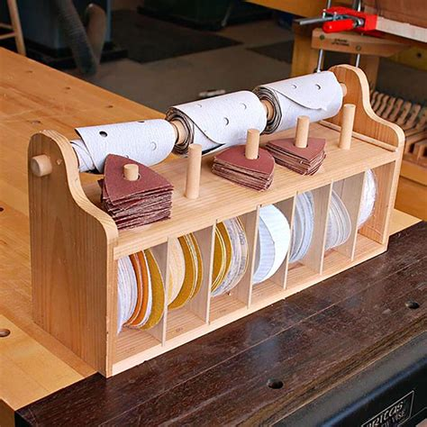 sanding bench bench top sanding disc caddy woodworking plan from wood