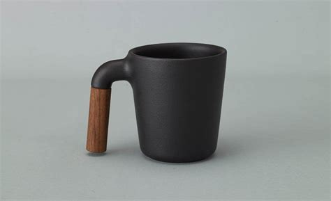 coffee mug handle hmm mugr adds a wood handle to your coffee mug cool material