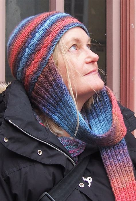 knitting pattern hat with scarf attached attached scarf knitting patterns in the loop knitting