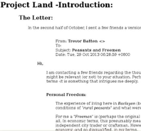 Introduction Letter For Project Project Land