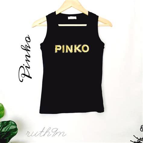 Pinko Tank Top pinko pinko black logo tank top sz s from wonderfully