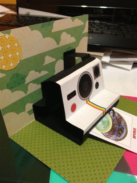 polaroid pop up birthday card with printable template best 25 polaroid template ideas on polaroid