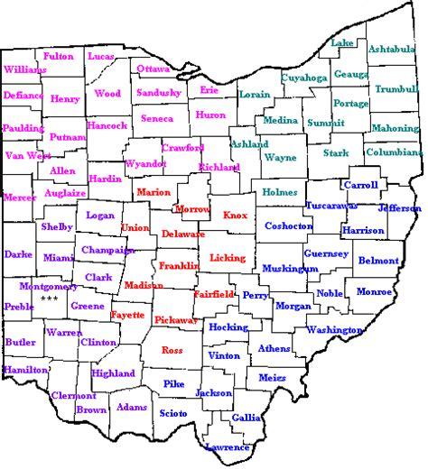 map of ohio counties ohio counties