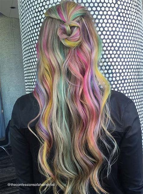 colorful ombre hair 50 bold pastel and neon hair colors in balayage and ombre