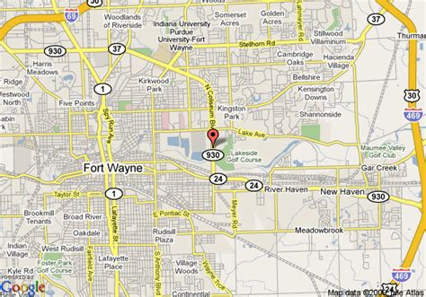 where is fort located in map map of coliseum inn fort wayne