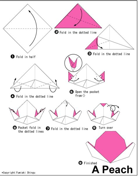 Origami Fruit - easy origami for