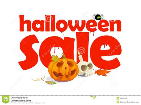 halloween sale design with letters of blood stock vector