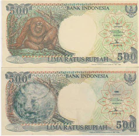 Uang Kertas Rp 500 Gambar Monyet perbedaan uang rp 500 orang utan dan monyet kaskus