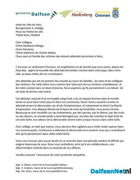 burgemeesters sturen brief naar parijs dalfsennet