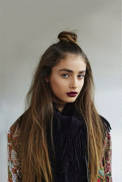 half bun half down hairstyles tumblr half up half down bun