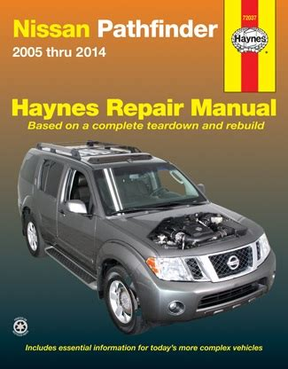 small engine service manuals 2005 nissan pathfinder security system 2005 2014 nissan pathfinder haynes repair service manual