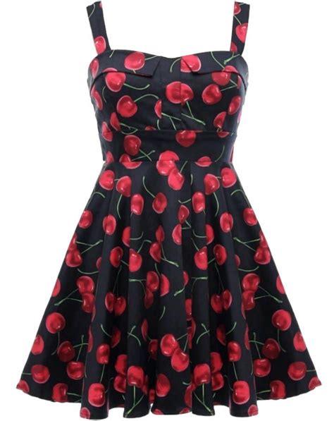 Cherry Dress cherry jubilee dress vintage fruit print pin up dresses
