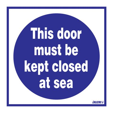 lalizas imo signs this door must be kept closed at sea