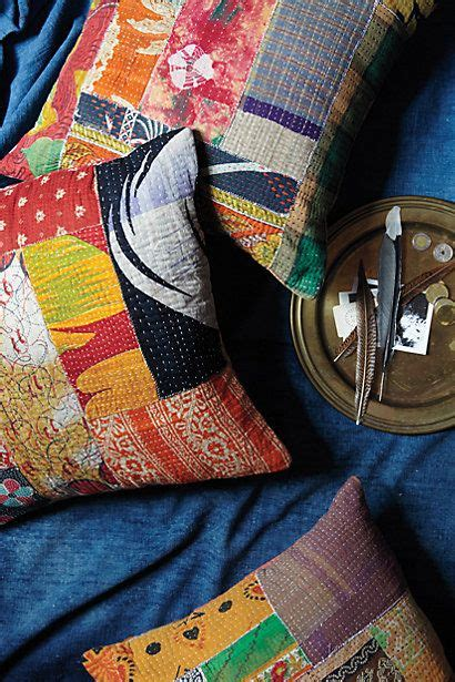 Facts About Patchwork - kantha patchwork pillow anthropologie anthrofave