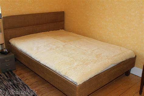 lammfell bettauflage lammfell bettauflage 200 x 180 cm betteinlage unterbett
