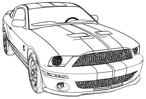 coloring pages of ford cars printable mustang car car coloring page ford mustang