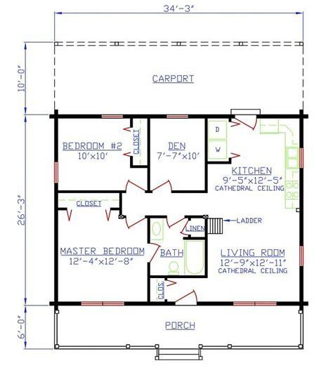 1 bedroom 1.5 bath house plans