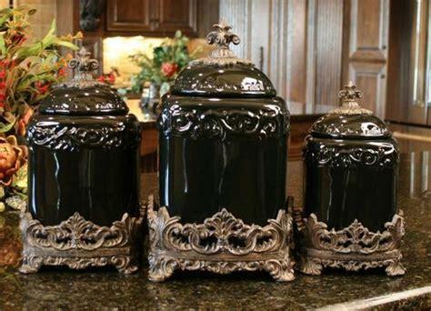 drake kitchen canisters drake design large tuscan fleur de lis black onyx