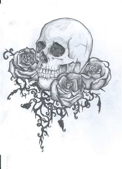 skull rose tattoo design 25 skull designs