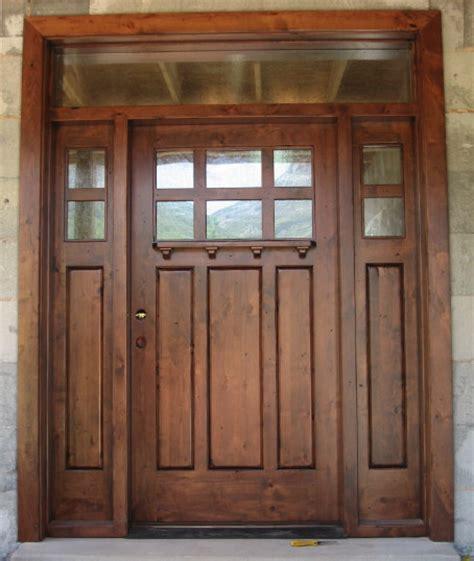 New Custom Front Doors Installed Custom Front Door