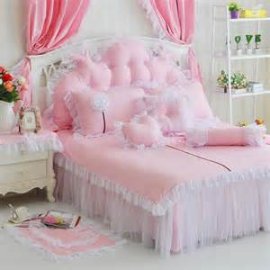 Ruffle Comforter Girls Pink Sunflower Ruffle Cotton Full Bedding Girls Lace