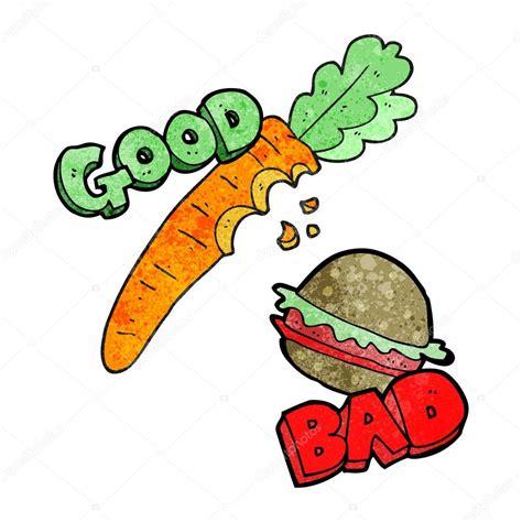 dibujo alimentos alimentos buenos y malos dibujos animados con textura