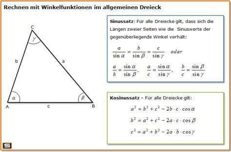 wann benutze ich sinus cosinus und tangens trigonometrie erkl 228 rung mit formeln und beispielen