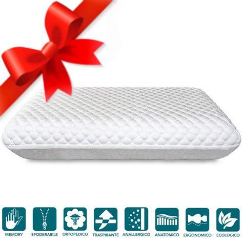 cuscini bio cuscino memory bio con soft doppio comfort