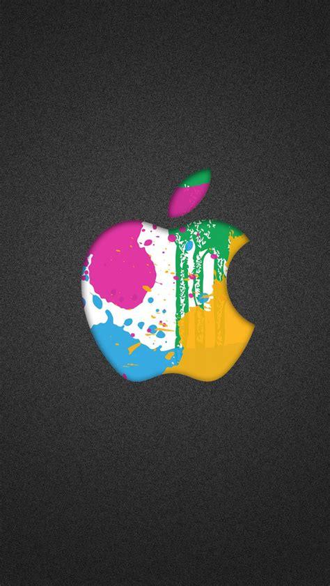 wallpaper apple iphone 5c colorful splash apple logo wallpaper free iphone wallpapers