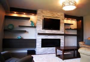 Wall Shelving Ideas For Living Room Living Room White Wooden Living Room Floating Shelves With Unique Wall Decorations Also