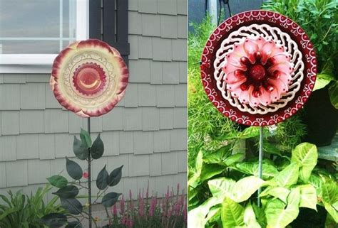Garden Made From Dishes Glass Flowers From Plates Crafts