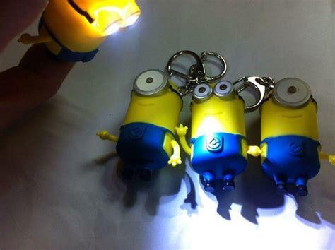 Dispecable Me Minion Keychain Led Eye Minion Gantungan Kunci Minio 2015 key chain despicable me 3d eye small minions